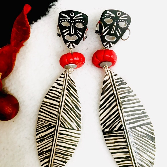 Xhosa ~ African Tribal Shield Earrings Boutique